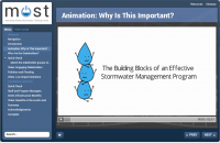 MOST stormwater program course animation one